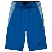 NIKE Blue Dry Fly Junior Short BLUE JAY/CERULEAN/BLACK