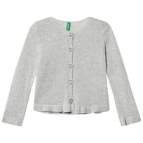 United Colors of Benetton Lurex Knit Cardigan Silver Grey Silver Grey