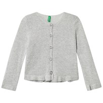 United Colors of Benetton Lurex Stickad Kofta Silvergrå Silver Grey