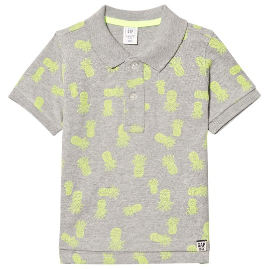 Gap Print Pikétröja Light Heather Grey Light Heather Grey B10
