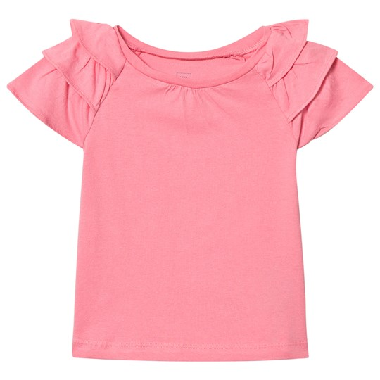 GAP Ruffle Sleeve Top Coral Frost Coral Frost