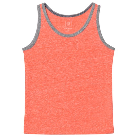 GAP Marled Jersey Tank Neon Coral Flame Neon Coral Flame 554