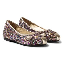 Little Marc Jacobs Multi Glitter Mouse Ballerinaskor Z40