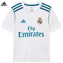 Real Madrid Real Madrid ´17 Junior Home Shirt WHITE/VIVID TEAL S13