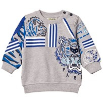 Kenzo Grey Marl All Over Icons Print Sweatshirt 22