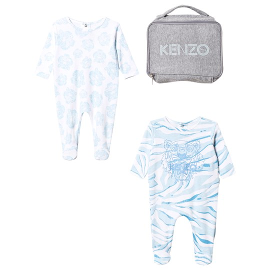 Kenzo 2 Pack Footed Baby Body Tiger Blue 411