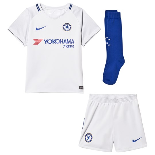 Chelsea FC Chelsea FC Kids Away Kit PURE PLATINUM/RUSH BLUE