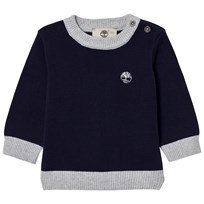 Timberland Navy Cotton Knit Sweater 85T