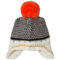 Catimini Unisex Multi Knit Pom Pom Hat with Teddy Lining 02