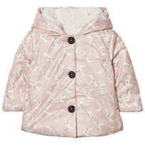 Catimini Pink Deer Print Coat with Teddy Lining 32