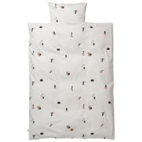 ferm LIVING Party Bedding - Junior Set Black