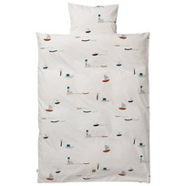 ferm LIVING Seaside Bedding - Baby Set Black