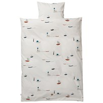 ferm LIVING Seaside Bedding - Junior Set Black