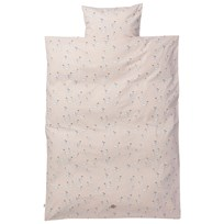 ferm LIVING Swan Bedding Rose - Baby Set Black