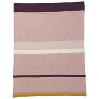 ferm LIVING Little Stripy Blanket - Rose Multi