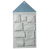 ferm LIVING House Wall Storage - Dusty Blue Dusty Blue