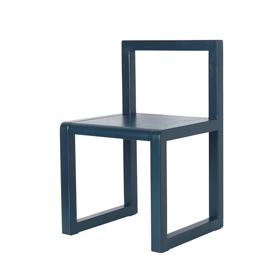 ferm LIVING Little Architect Chair Dark Blue dark green
