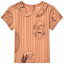 Mini Rodini Fox Family T-shirt Med Krage Brun BROWN