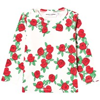 Mini Rodini Rose Tee Off White White