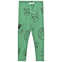 Mini Rodini Fox Family Leggings Green Green