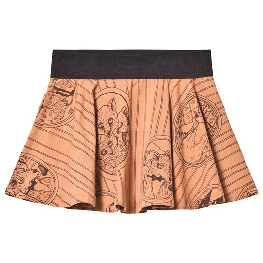 Mini Rodini Fox Family Skirt Brown BROWN