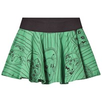 Mini Rodini Fox Family Skirt Green Green