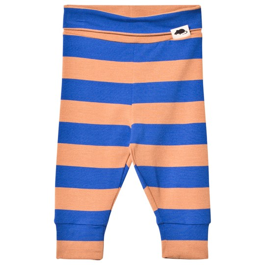 Mini Rodini Blockstripe Leggings Blue Blue