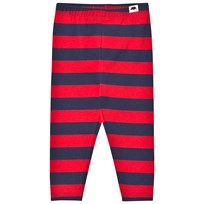 Mini Rodini Randiga Leggings Röd Red