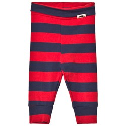 Mini Rodini Blockstripe Leggings Red