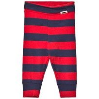 Mini Rodini Blockstripe Leggings Red Red
