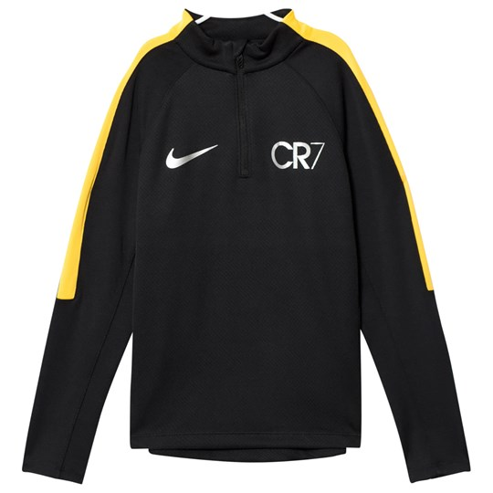 NIKE CR7 Squad Drill Tröja BLACK/LASER ORANGE/METALLIC SILVER