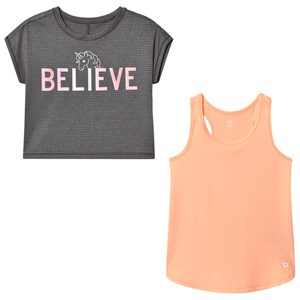 Image of GAP GapFit Double-Layer Tee Grey XS (4-5 år) (2839673831)