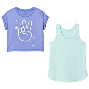 Image of GAP GapFit Double-Layer Tee Belle Blue XS (4-5 år) (2839673815)