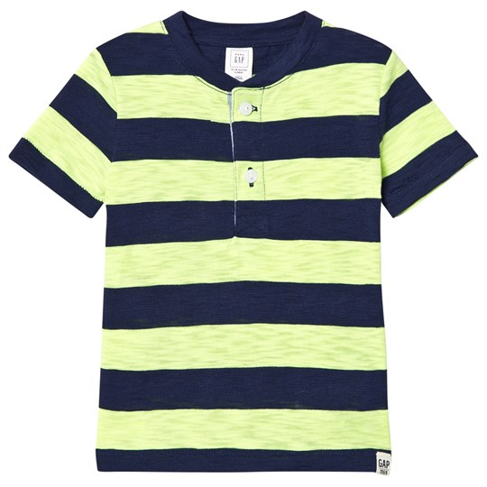 Gap Rugby Randig Slub Henley T-shirt Active Yellow Active Yellow