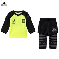 adidas Yellow Infants Messi Top and Bottoms Set Top:SOLAR YELLOW/LEGEND INK F17/BLACK/NIGHT MET. F