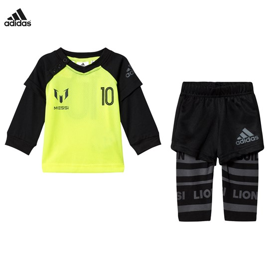 best website a4832 34af9 adidas Performance - Yellow Infants Messi Top Bottoms Set ...