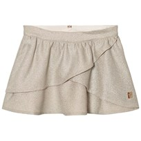Carrément Beau Gold Lurex Wrap Front Skirt Z40
