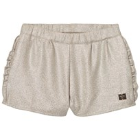Carrément Beau Gold Lurex Frill Detail Shorts Z40