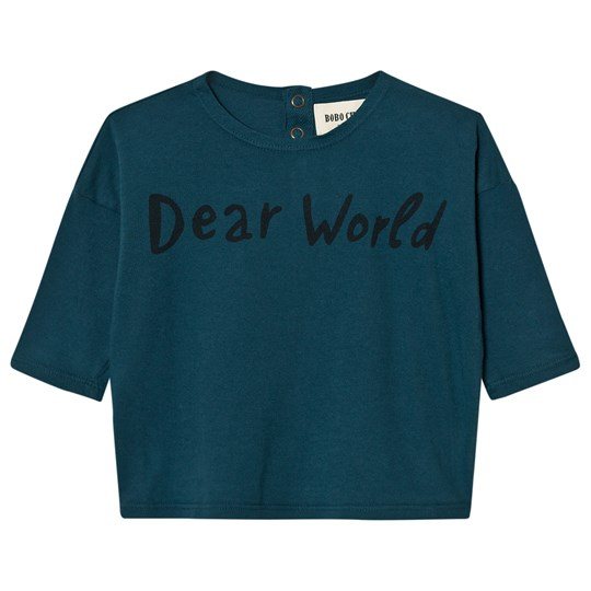 Bobo Choses Baby T-Shirt Dear World Blue
