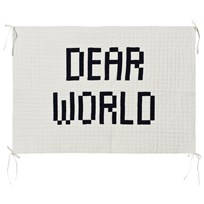 Bobo Choses Quilted Wall Hanger Dear World Beige