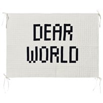 Bobo Choses Quilted Wall Hanger Dear World бежевый