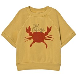 Bobo Choses Short Sleeved Sweatshirt Crab Your Hands