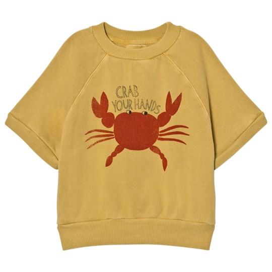 Bobo Choses Short Sleeved Sweatshirt Crab Your Hands Yellow