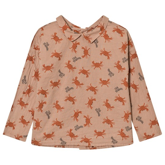 Bobo Choses Buttons Blouse Crab Your Hands Pink