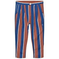 Bobo Choses Awning Stripes Baggy Trousers Blue