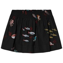 Bobo Choses Deep Sea Flared Skirt Black