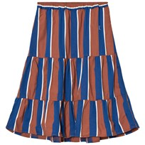 Bobo Choses Awning Stripes Long Skirt Blue