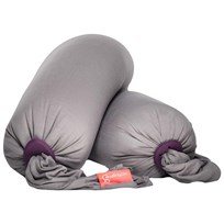 Bbhugme Pregnancy & Breastfeeding Pillow Stone/Plum Pebbles Grå