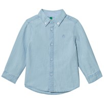United Colors of Benetton Pale Blue Collar Button Down Shirt Pale Blue