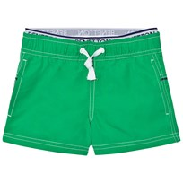 United Colors of Benetton Green Swim Shorts with Logo Waist Band Green